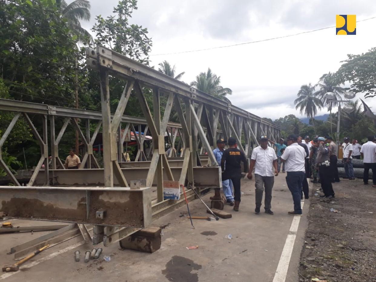 Kementerian PUPR Bangun Jembatan Sementara Pulihkan Lalu Lintas Padang-Bukittinggi