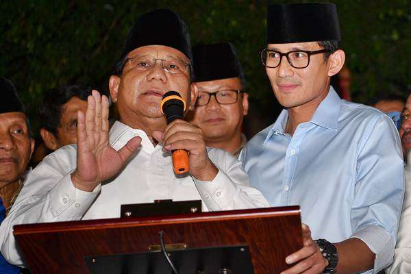 pintu keluar prabowo-sandi di debat capres-cawapres (:ist), Prabowo-Sandi, Gorontalo