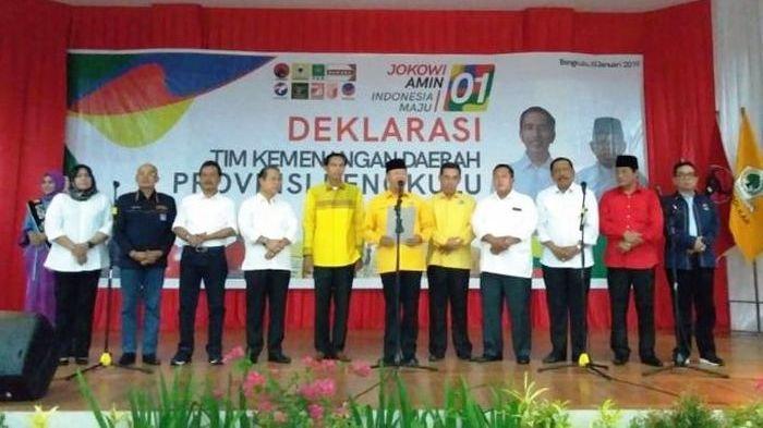 Gubernur Bengkulu dan 9 Bupati Deklarasi Dukungan untuk Jokowi-Maruf