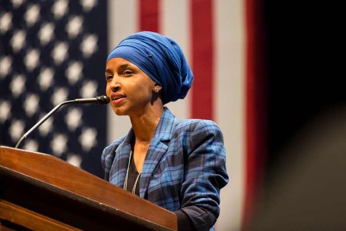 Ilhan omar wanita berhijab pertama di kongres Amerika Serikat (:ist)