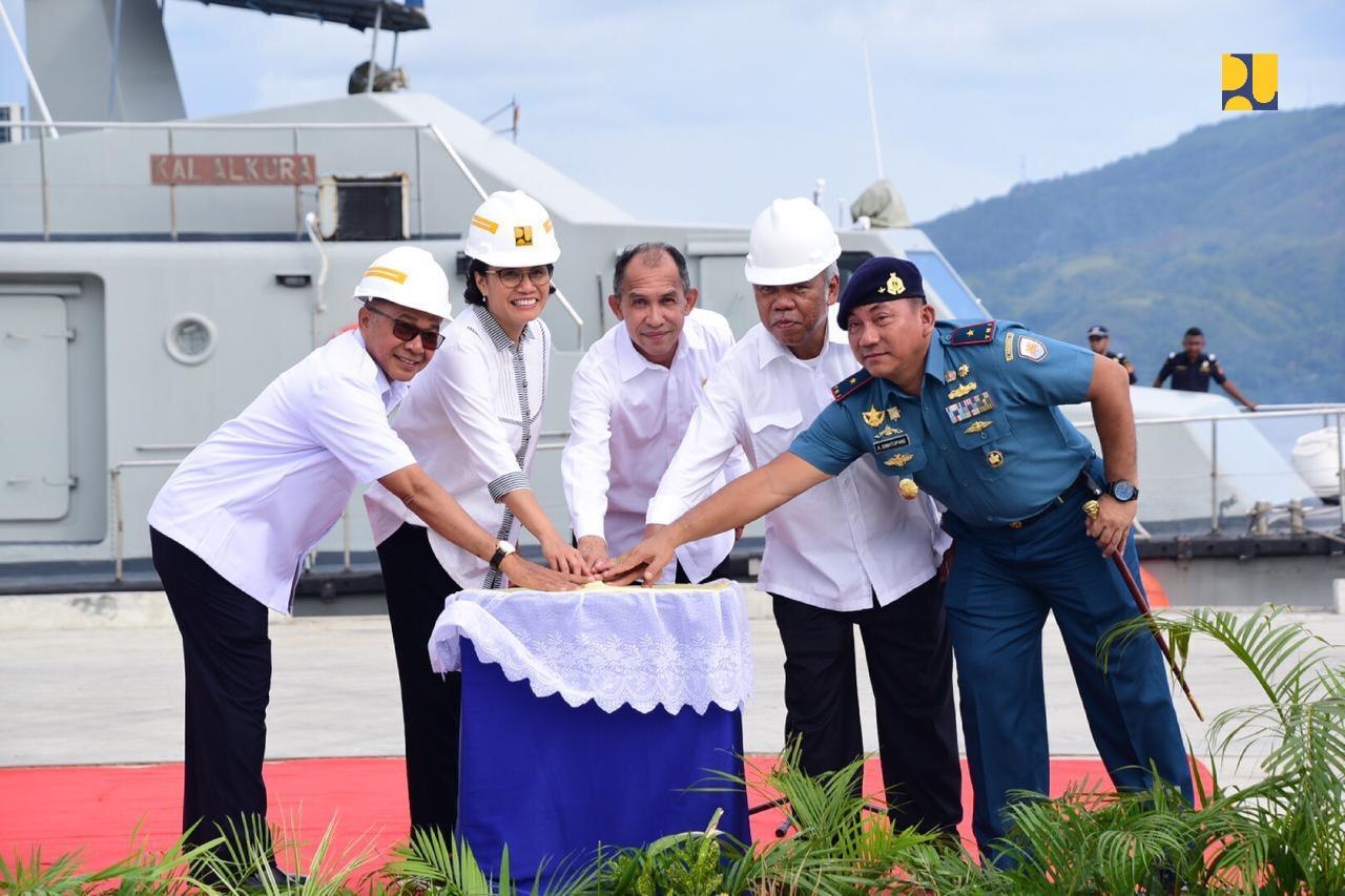 Menteri Keuangan dan Menteri PUPR Resmikan Dua Proyek Infrastruktur di Kota Ambon