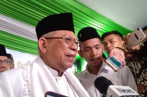 Ma'ruf Amin Tegaskan Jokowi Tidak Anti Islam, Dia Cinta Kiai, Cinta Santri