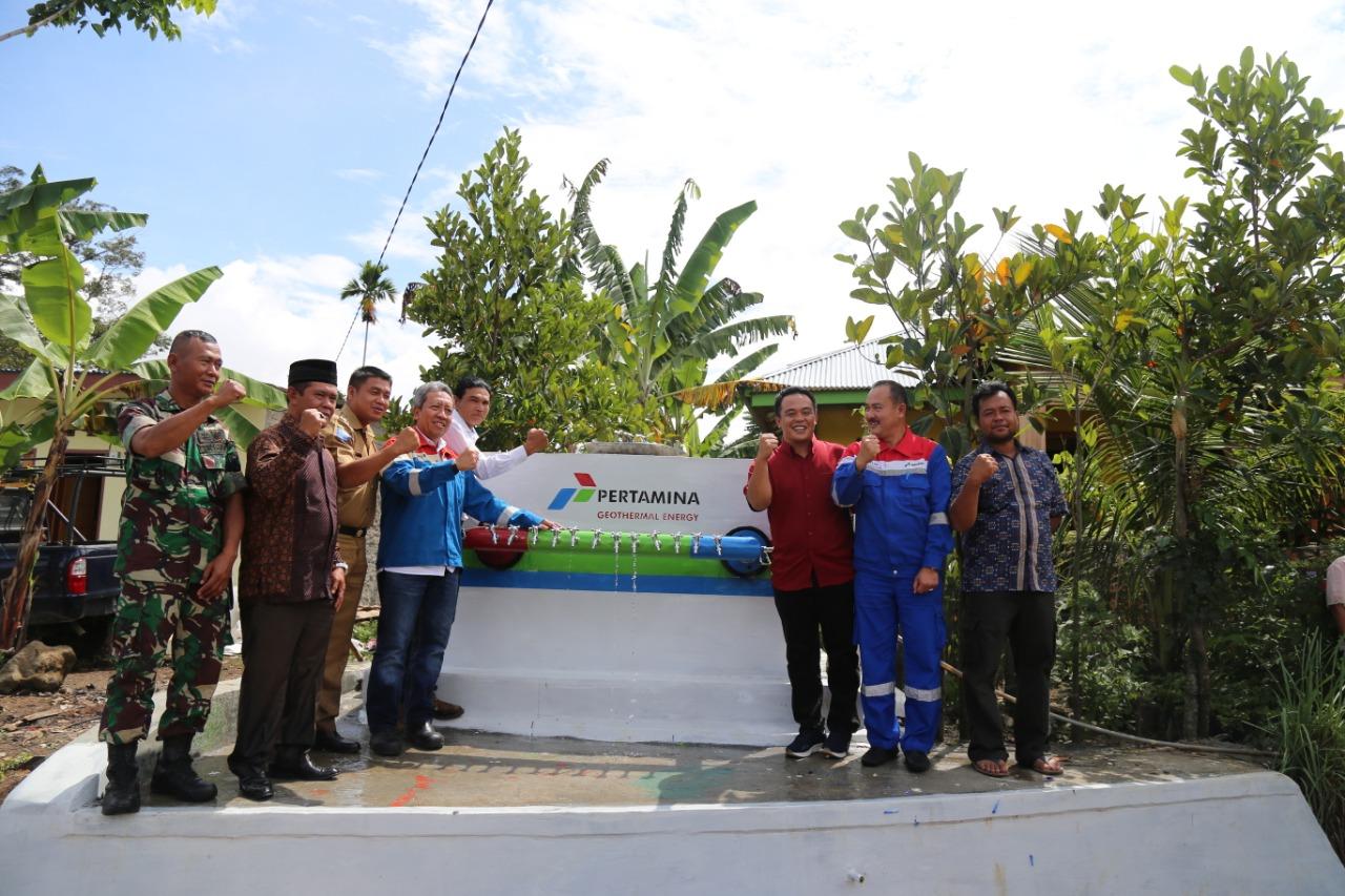 Masyarakat Sumringah Terima Bantuan Fasilitas Air Bersih dari PT. PGE Hululais