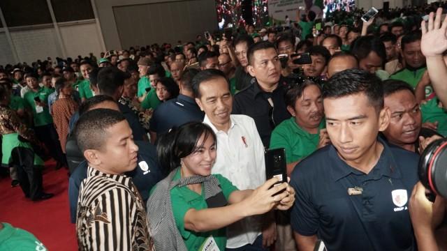 Presiden Jokowi temui remaja pengidap penyakit kanker