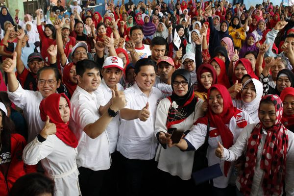 Kepada Warga Depok, Erick: Jokowi Sangat Sayang Rakyat Indonesia