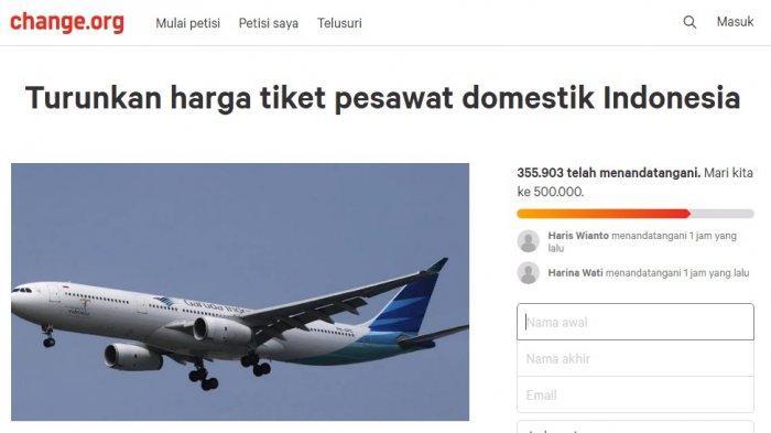 harga, tiket, pesawat, gmki, presiden,kemenhub