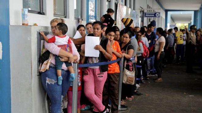 imigran venezuela menyeberang peru