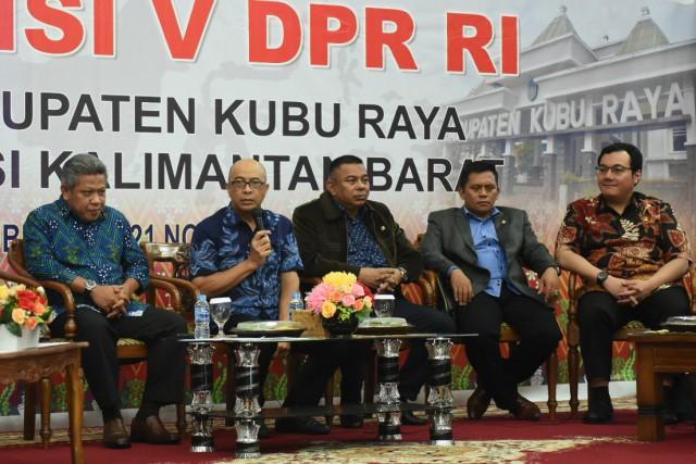 Komisi V Dorong Pembangunan Sistem Penyediaan Air Bersih di Kubu Raya