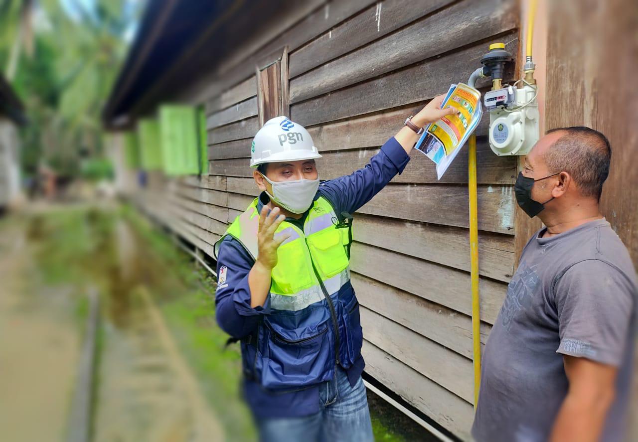 Semakin Banyak Masyarakat Kutai Kartanegara Manfaatkan Jargas Rumah Tangga