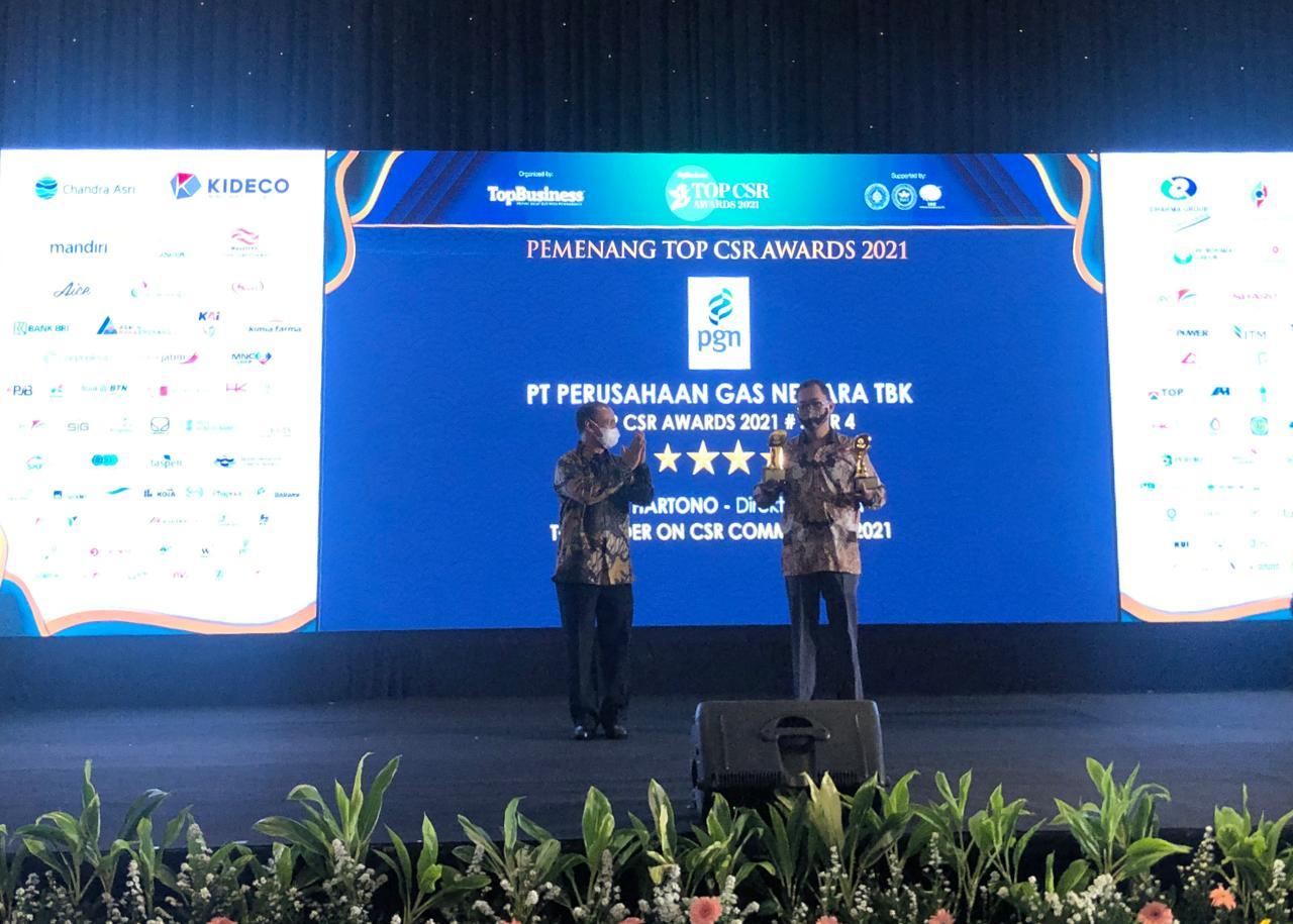 Jalankan Tanggung Jawab Sosial Dengan Sangat Baik, PGN Raih Top CSR Awards 2021